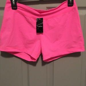 Hot pink bebe workout boy short